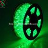 10mm trasparente Thin Green Tube Rope LED Light per Christmas Decoration