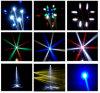 El disco barato de DJ enciende 4 la cabeza móvil de la viga de la luz RGBW LED del efecto de los ojos 25W LED