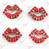 8mm Red Lip Sliders mit Crystal Wholesale (JP08-80)