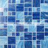 48&23mmの正方形の組合せの濃紺の溶けるガラスモザイク・タイル(BGZ002)
