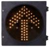 Os aspetos de Driverway 1 amarelam o sinal do diodo emissor de luz da seta