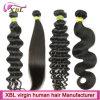 Дешевое цена отсутствие линяя человеческих волос Remy 100 девственниц