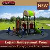 Schule-Verbrauch-im Freien Plastikspielplatz mit Schwingen und Plättchen (X1507-8)