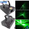Клуб диско DJ освещая зеленый лазер скеннирования