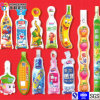Flüssiger Getränkekunststoffgehäuse-geformter Beutel