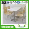 ステンレス鋼のレストランの家具のダイニングテーブルおよび椅子セット