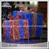 Uso esterno chiaro di Giftbox di bello di festa natale dell'indicatore luminoso per la decorazione del giardino