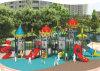 Kaiqi Kind-Schloss-Plastikim freienspielplatz-Geräte mit Schwebern und Bergsteigern