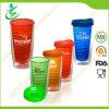Taza plástica BPA-Libre del agua de la paja de 16 onzas, vaso (TB-A3)