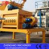 Uno mismo gemelo horizontal de alta velocidad del eje Js1000 del material de construcción que carga el mezclador concreto