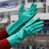 Перчатка зеленого нитрила Nmsafety 15mil химически промышленная