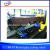 Grande taglierina di tubo della macchina di taglio alla fiamma del plasma di CNC del tubo del metallo del tubo