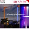 1.2/1.5/1.8m RGBの白い黄色LEDのアンテナ車またはTruck/ATV/UTVのためのリモート・コントロール鞭LEDライト