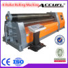 3 rolos Plate Roll Forming Machine com Mechanical Control