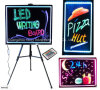 Diodo emissor de luz Rewritable Light Board Sign com Marker Pen