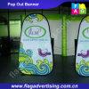 Таможня печатание полного цвета рекламируя складывать хлопает вверх знамя ткани
