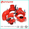 Ductile Iron Construction, Grooved Coupling and pipe fitting 7 ''