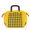Form-gelbe populäre Frauen PU-Entwerfer-Handtaschen (MBNO034053)