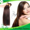 Hellbrauner brasilianischer menschlicher Remy Haar-Menschenhaar-Einschlagfaden