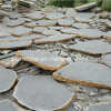 Grey natural Basalt Stepping Stone para Landscape