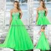 O baile de finalistas frisado do verde do querido veste P003
