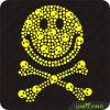 Goldlächelnde Gesichts-Schädel Hotfix Übertragungen