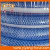 Boyau renforcé par tresse transparente bleue de PVC de type japonais