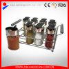 Garrafa de especiarias de vidro de cozinha útil / Spice Jar com Spice Rack