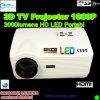 가정 극장 (H3)를 위한 텔레비젼 조율사 HDMI Proyector 1080p에서 건축되는 휴대용 HD LED 영사기