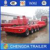 4 Aanhangwagen van het Bed van assen de Op zwaar werk berekende Lage, de Vrachtwagen van de Aanhangwagen van de Lading