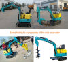 Nuovo escavatore del cingolo di circostanza un mini escavatore scavatore da 0.8 tonnellate