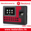 Realandの生物測定の指紋センサーの時間出席機械