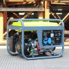 バイソン((e) 2kw 2kVA 110V 220V中国中国) BS2500dの製造者円形フレームの単一フェーズ6.5HPガソリン発電機セット