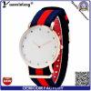 Relojes ocasionales de la alineada de las señoras del diamante del reloj de Relogio Masculino del reloj de Ipg del oro de nylon de la correa del reloj del deporte del reloj de las mujeres de los hombres del reloj Yxl-259