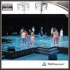 Étape de danse d'étape en verre acrylique d'effets d'Underlighting pour l'exposition de danse