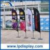 bandierina della piuma di 2.8m con le bandiere della base quadrata per la pubblicità della promozione