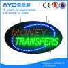 Muestra electrónica oval de las transferencias monetarias LED de Hidly