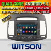 Witson Android 5.1 voiture DVD pour Hyundai Elantra (2007-2011) (W2-F9556Y)