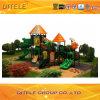 114mm galvanisiertes Pfosten-buntes luxuriöses neues Blatt-Dach und geneigtes Brücken-Kind-im Freienspielplatz-Gerät