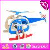 Het nieuwe Vliegtuig van het Ontwerp bouwt Speelgoed W03b068 van de Assemblage van de Jonge geitjes van de Uitrusting het Grappige Houten