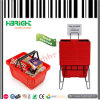 Panier à provisions en plastique de double supermarché de traitement