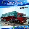 De op zwaar werk berekende Zij Semi Aanhangwagen van de Stortplaats, de ZijAanhangwagen van de Vrachtwagen van de Kipper
