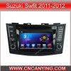 鈴木Swfit 2011-2012年(AD-7669)のためのA9 CPUを搭載するPure Android 4.4 Car DVD Playerのための車DVD Player Capacitive Touch Screen GPS Bluetooth