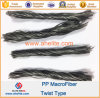 Fibra concreta Macrofiber di torsione di rinforzo di fibra pp