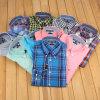 Рубашка хлопка отдыха высокого качества экспорта Checkered