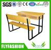 Escritorio de madera combinado de la escuela con la silla (SF-46D)