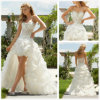 Front e Long curtos Back Wedding Dress (XZ364)