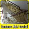 Latón / Color de cobre revestido de escaleras / Balcón de aluminio Barandilla
