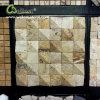 Abgezogene Ende-beige Travertin-Mosaik-Fliese