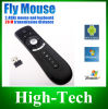 TvboxのためのジャイロスコープのMini Fly Air MouseのT2 2.4G Wireless Keyboard Mouse Android Remote Control 3D Sense Motion Stick